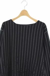 ブージュルード Bou Jeloud カットソー ストライプ 刺繍 長袖 F 黒 /HA ■AC レディース ベクトル【中古】