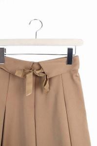 レストローズ L'EST ROSE スカート フレア ひざ丈 2 ベージュ /HK ■AC レディース ベクトル【中古】