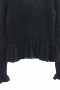 ミリオンカラッツ Million Carats ニット セーター ペプラム 長袖 F 黒 /DF ■AC レディース ベクトル【中古】