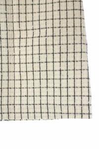 ロペ ROPE スカート チェック ミニ ラメ 台形 36 白 黒 /MN レディース ベクトル【中古】