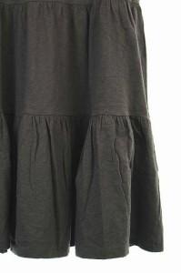 スピック&スパン Spick&Span ワンピース 膝丈 半袖 ティアード 茶 /ES レディース ベクトル【中古】