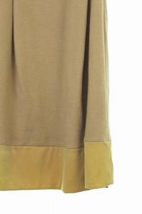 アンタイトル UNTITLED ワンピース 膝丈 切替 ベルト付き 半袖 2 ベージュ /HA レディース