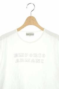 エンポリオアルマーニ EMPORIO ARMANI カットソー Tシャツ 半袖 XXL 白 /AA レディース ベクトル【中古】