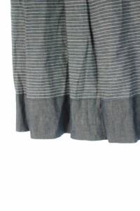 アナイ ANAYI スカート 膝丈 プリーツ ボーダー 38 紺 /HA レディース ベクトル【中古】