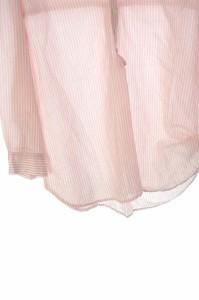 アニエール Anier シャツ ストライプ 七分袖 38 ピンク /DF ■AC レディース ベクトル【中古】