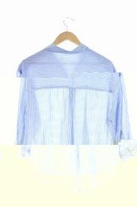 アニエール Anier シャツ スキッパー ストライプ 七分袖 38 青 /DF ■AC レディース ベクトル【中古】
