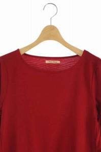 アンナケリー Anna Kerry カットソー 裾フレア 長袖 38 赤 /YS ■AC  レディース ベクトル【中古】
