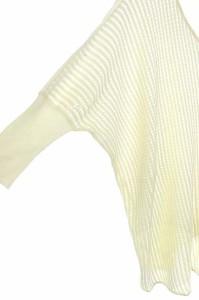 インディヴィ INDIVI ニット セーター 切替 長袖 09 アイボリー /DF ■AC レディース ベクトル【中古】