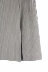インディヴィ INDIVI スカート ひざ丈 プリーツ ストライプ 38 グレー /RM ■AC レディース ベクトル【中古】