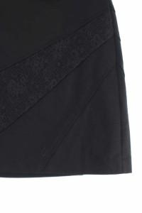 インディヴィ INDIVI スカート ミニ 台形 レース 38 黒 /RM ■AC レディース ベクトル【中古】