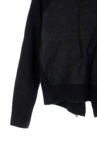 レストローズ L'EST ROSE ニット セーター 長袖 切替 リボン 2 黒 /RM ■AC レディース ベクトル【中古】