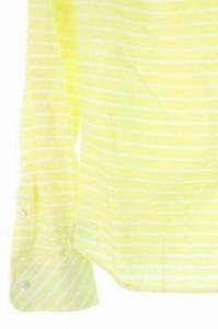 ラブレス LOVELESS シャツ ボタンダウン ボーダー リネン混 36 黄 /YS ■AC レディース ベクトル【中古】
