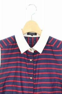 ラブレス LOVELESS シャツ ノースリーブ ボーダー 36 紺 赤 /YS ■AC レディース ベクトル【中古】