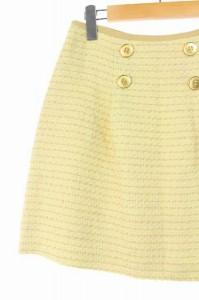 ルビーリベット Rubyrivet スカート ミニ 台形 ツイード 38 黄 /HA ■AC レディース ベクトル【中古】