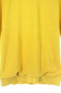 アンタイトル UNTITLED ニット カットソー 半袖 ドルマン ラメ 2 黄色 /AA ■AC レディース ベクトル【中古】