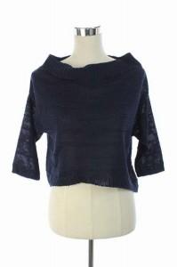 アンタイトル UNTITLED ニット セーター 七分袖 2 紺 /DF ■AC レディース ベクトル【中古】