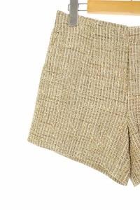 アンタイトル UNTITLED パンツ ショート ツイード ラメ 2 ベージュ /ES ■AC レディース ベクトル【中古】