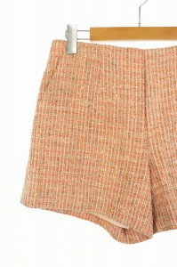 アンタイトル UNTITLED パンツ ショーツ ツイード 2 オレンジ /RM ■AC レディース ベクトル【中古】