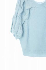 ウィルセレクション WILLSELECTION ニット セーター 七分袖 ドルマン ケーブル編み 1 水色 /RM ■AC レディース ベクトル【中古】