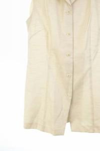 ヨンドシー 4℃ ブラウス シャツ チュニック ノースリーブ M ベージュ /HM レディース