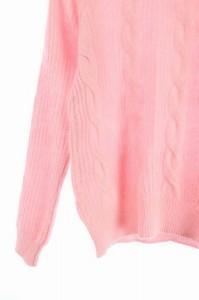 リアラ Reala ニット セーター 長袖 ケーブル編み ビジュー 38 ピンク /AA ■AC レディース ベクトル【中古】