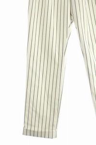 リアラ Reala パンツ テーパード ロールアップ ストライプ 38 白 /AA ■AC レディース ベクトル【中古】