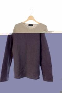 ブルーワーク BLUE WORK ニット セーター 長袖 カシミヤ混 1 ベージュ /RM メンズ ベクトル【中古】