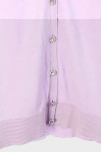 アプワイザーリッシェ Apuweiser-riche カーディガンニット Vネック 長袖 2 紫 /YS レディース ベクトル【中古】