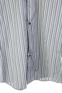 ジーゼニア Z Zegna シャツ ストライプ 長袖 39 青 /DF メンズ ベクトル【中古】