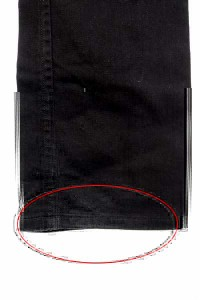 ディーゼル DIESEL POIAK パンツ ストレート ボタンフライ 27 黒 /HK   レディース
