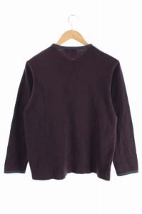 ヒューゴボス HUGO BOSS Tシャツ カットソー Vネック 長袖 S 紫 /HA メンズ ベクトル【中古】