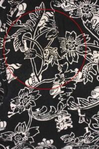 ラブレス LOVELESS パンツ ハーフ 花柄 73 黒 /IC メンズ ベクトル【中古】