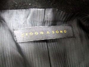 クルーンアソング CROON A SONG ジャケット テーラード シングル 総裏地 36 黒 /IC161 レディース ベクトル【中古】