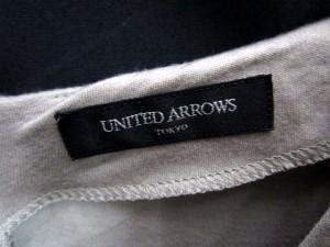ユナイテッドアローズ UNITED ARROWS ワンピース ひざ丈 Vネック 長袖 40 グレー/YS26 レディース