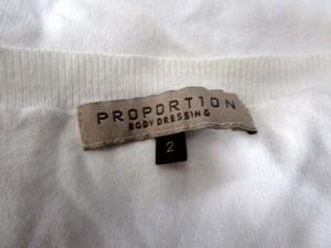 プロポーション ボディドレッシング PROPORTION BODY DRESSING ニット カットソー 長袖 白 2 /MH21 レディース ベクトル【中古】