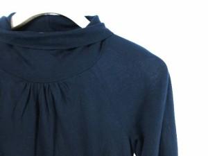ジューシークチュール JUICY COUTURE カットソー 無地 長袖 丸首 タートルネック 黒 /AW32 レディース