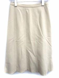 ヴォイスメール VOICE MAIL スカート ひざ丈 台形 ウール混 USA4 ベージュ /TS レディース ベクトル【中古】