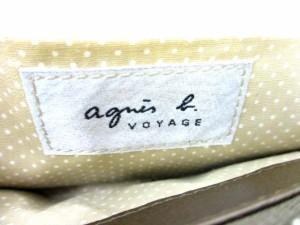 アニエスベー agnes b. パーティーバッグ ウォレットポーチ がま口 茶 /DT ● レディース ベクトル【中古】