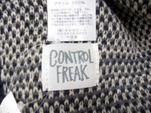 未使用品 コントロールフリーク Ctrl freak ストール マフラー フード 総柄 グレー /DJ ● レディース ベクトル【中古】