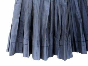 アンタイトル UNTITLED スカート プリーツ ひざ丈 1 ネイビー /DH46 ● レディース ベクトル【中古】