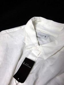 マッキントッシュ MACKINTOSH シャツ ブラウス 七分袖 無地 46 白 ホワイト /KH ● レディース ベクトル【中古】