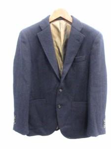 ハリスツイード Harris Tweed テーラードジャケット 総裏地 ウール 紺 /DH34 ● メンズ ベクトル【中古】