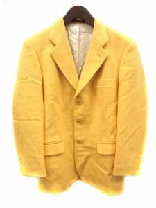 ハリスツイード Harris Tweed ジャケット テーラード ウール 38 黄 イエロー /MR ■CA27 メンズ ベクトル【中古】