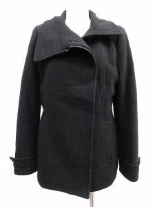 c7914f988076 エムケー ミッシェルクラン MK MICHEL KLEIN コート ショート ウール 38 黒 ブラック /KH □CA29