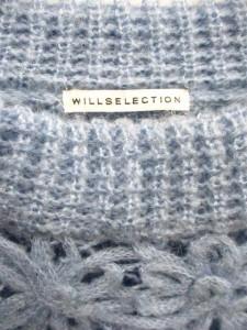 ウィルセレクション WILLSELECTION ニット セーター 長袖 花柄 1 青 /NT ● ■AC レディース ベクトル【中古】