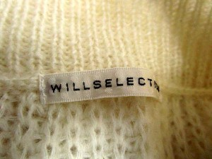 ウィルセレクション WILLSELECTION ニット セーター ボーダー モヘヤ混 1 長袖 白 ベージュ 1 /SN15 ● ■AC レディース