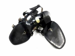 イヴサンローラン YVES SAINT LAURENT ヒールサンダル ストラップ レザー 35.5  黒 /DH11 ● レディース ベクトル【中古】