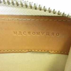 8a99391c8ef6 マクロマウロ macromauro paint wallet M 長財布 ラウンドファスナー ジップアラウンド レザー ホワイト マルチカラー