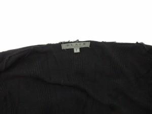 ブラック バイ マウジー BLACK by moussy カーディガン ロング ニット ショールカラー ウール アンゴラ F 黒 ブラック /mi レディース