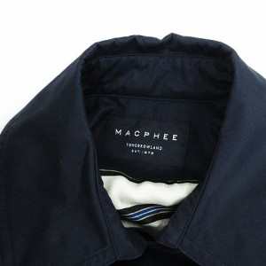 マカフィー MACPHEE トゥモローランド コート ジャケット スモック 長袖 コットン 無地 トレンチ風 ネイビー 38 レディ ベクトル【中古】